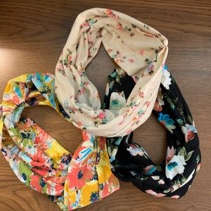 BUNDLE | THREE FLORAL BOHO HEADBANDS